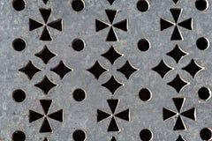 Modell som utföra i relief på metall arkivfoto