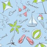 Modell - sommar och lopp stock illustrationer