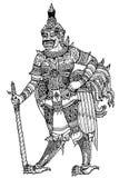 Modell Thailand royaltyfri illustrationer