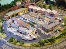 Modell Town Royaltyfri Foto