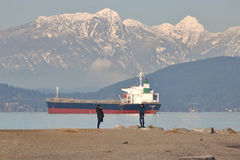 Modell und Fotograf in Vancouver, Kanada Stockfotos