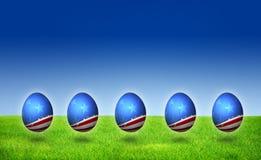 modell USA för nation för easter äggflagga arkivfoton