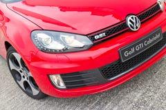 Modell Volkswagen Golfs GTI Cabriolet-2013 Stockbild