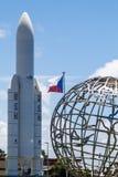 Modell von Ariane- 5weltraumrakete lizenzfreies stockbild