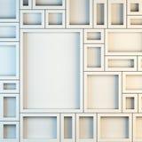Modell von leeren weißen Rahmen Stockbild
