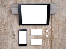 Modellaffärsmall Uppsättning av beståndsdelar för att brännmärka identitet arkivbild