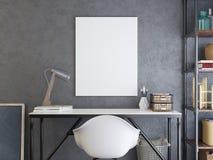 Modellaffisch ovanför skrivbordet Vektor Illustrationer