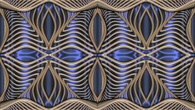 Modellato dorato astratto, immagine raster per la progettazione di textil Fotografie Stock
