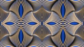 Modellato dorato astratto, immagine raster per la progettazione di textil Fotografia Stock
