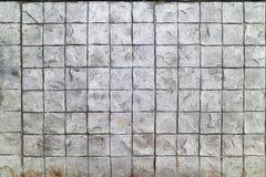 Modellato pavimentando il fondo del pavimento del mattone del cemento delle mattonelle Fotografie Stock
