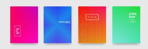 Modellbakgrund, abstrakt geometrisk vågtextur, färglutning Modell för apelsin för vektor blå, röd och grön geometrisk, vektor illustrationer