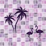 Modellbakgrund - flamingo Royaltyfri Fotografi