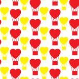 Modellballong i formen av hjärta Vektor Illustrationer