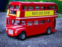 ModellbussLondon buss Royaltyfri Foto
