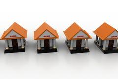 Modelle 3d von Bank Stockfoto