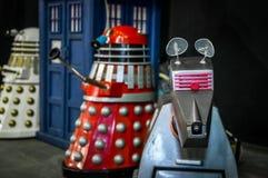 Modelle Dalek und Doktors Who Stockfoto