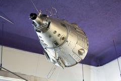 Modelle von Raumschiffen im zentralen Haus von Luftfahrt und von Cosmon lizenzfreie stockfotografie