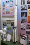 Modelle von Raumschiffen im zentralen Haus von Luftfahrt und von Cosmon stockfotos
