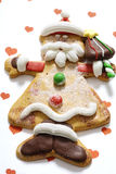 Modelled gingerbread man Stock Photography