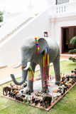 Modellelefant i Ayutthaya Arkivbild