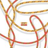 Modellen av de kulöra kablarna stock illustrationer