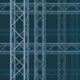 Modellen av den tekniska rektangulära strukturen Arkivbild