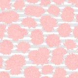 Modellen av för rosa liljor för vektorn rev den sömlösa på grå färger bakgrund Blom- design för tappning Royaltyfri Bild