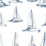 Modellen av seglingyachterna skissar royaltyfri illustrationer