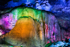 Modellen av stalaktit Arkivbild