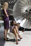 Modellen bij de Tentoonstelling van de Foto Royalty-vrije Stock Foto's