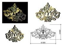 Modellen för de arkitektoniska detaljerna isolerat Arkivbild
