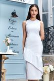 Modellen för framsidan för den härliga sexiga för kvinnakläder för mode för sommar för samlingen för kläder för tillfällig stil v royaltyfri fotografi