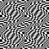Modellen för geometri för vektorhipsterabstrakt begrepp, svartvit sömlös geometrisk bakgrund, den subtila kudden och det dåliga a Royaltyfria Bilder