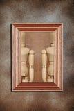 Modellen in kader Royalty-vrije Stock Afbeelding