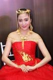 Modellen med juvlarna Royaltyfri Fotografi