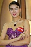 Modellen med juvlarna Royaltyfria Foton
