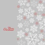 Modellen med snöflingor med glad jul smsar vinterbakgrund för nytt år och jul vektor illustrationer