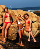 Modellen op de Rotsen stock fotografie