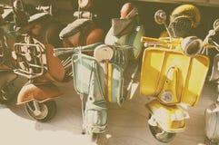 modellen van beroemde Italiaanse Vespa stock foto's