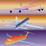 Modellen van passagiersvliegtuigen vector illustratie