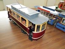 Modellen van trolleybussen, elektrische modellen van stad stock afbeeldingen