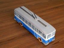 Modellen van trolleybussen, elektrische modellen van stad royalty-vrije stock foto's