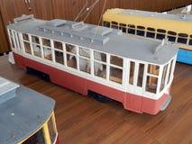 Modellen van trolleybussen, elektrische modellen van stad royalty-vrije stock foto