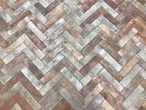 Modeller av banor eller golv från ordningen av tegelstenar Eller golvtegelplattor royaltyfri bild