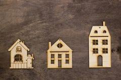 Modeller av hus med olikt nummer av våningar Arkivfoton