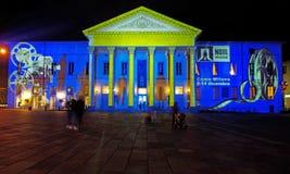 Modeller av ljus på teatern arkivbilder
