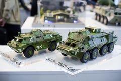 Modeller av modern militär utrustning av ukrainsk produktion Royaltyfria Foton