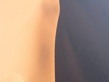 Modeller av sand på dyn 45 i den Namib öknen, Namibia Royaltyfri Fotografi