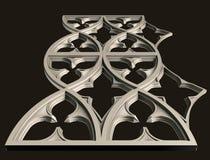 Modeller för den arkitektoniska inredesignen, 3D illustration, konstnär, textur, grafisk design, arkitektur, illustration, symbol stock illustrationer