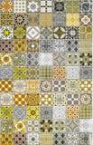 Modeller för keramiska tegelplattor Fotografering för Bildbyråer